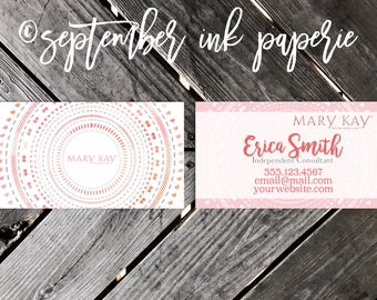Makeup Consultant Business Cards - Independent Consultant Resources - Business Branding - Marketing - Advertising