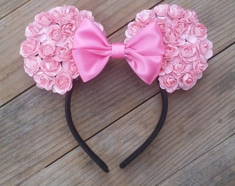 Light Pink Floral Ears