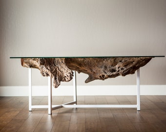 African Mahogany floating table