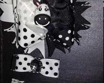 Zebra Hair Clip set