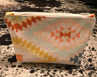Southwestern Cosmetic Pouch, Makeup Bag