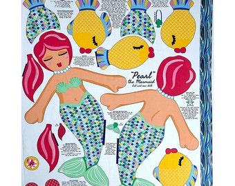 Beautiful Briny Sea Doll Glitter 35.5'' Panel Fabric Do it Yourself