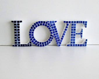 Word LOVE in mosaic