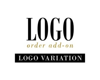 Logo Variation ADD-ON to premade logo purchase