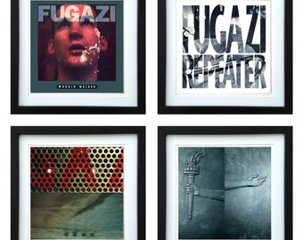 Fugazi - Framed Album Art - Set of 4 Images