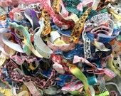 25 Bulk printed hair ties, hair bands, ponytail holders, stretchy bracelets, boho, no crease, surprise grab bag, party favors, gifts for her
