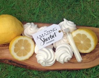 Lemon Meringue Sherbet Test Tube