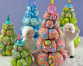 Cream Puff Christmas Trees Pattern