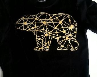 Bear star map long sleeve T