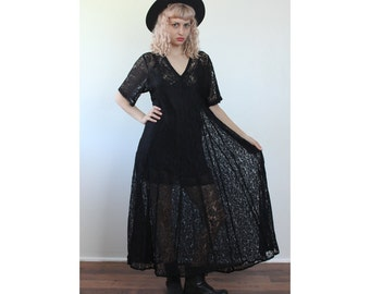 Sheer maxi dress  Etsy
