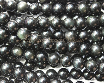 Rainbow Obsidian Beads,6mm 8mm 10mm, Full Strand 15.5 inches, Gemstone Beads, Beading Suppliers, Jewelry Suppliers