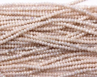 2.5mm Crystal Faceted Rondelle Beads Full Strand 200 Beads, Crystal Beads, Glass Beads, Findings, Beading Supplies, Jewelry Supplies