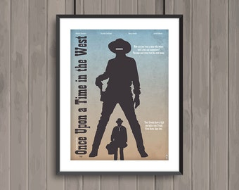 One upon a Time in the West, minimalist movie poster