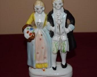 Japan Ceramic Vintage Colonial Couple