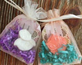 12 Mini Owl Goat's Milk Soap Bars; Party Favors; Gift Set; Baby Shower; Birthday