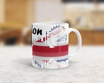 London Union Jack Mug