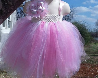 Baby Pink and White Tutu Dress