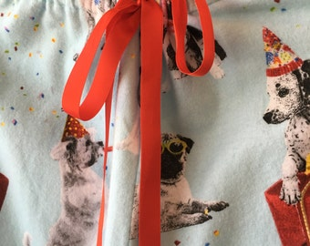Puppy Party Flannel Pants