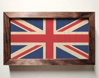 British Flag Wooden Sign