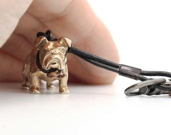 Vakkancs English Bulldog bronze keychain (3D)