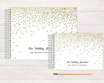 rustic floral wedding guest book wedding guestbook custom