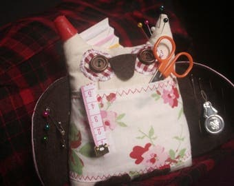Handmade Owl Pincushion with Sewing Accessories