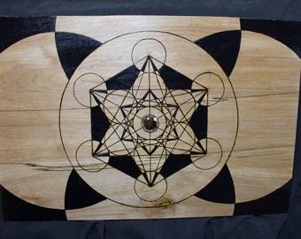 Metatrons Cube W/ Pinecone