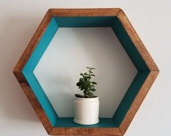 Blue Hexagon Shelf