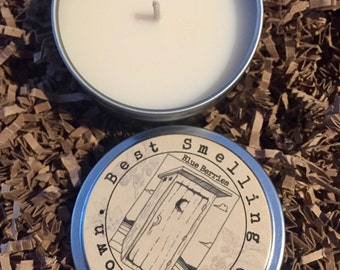 Blue Berries Outhouse Candle, 6 oz tin