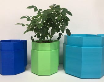 Large Self-Watering Octagon Plant Pot