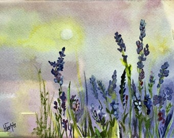 Small Lavender field