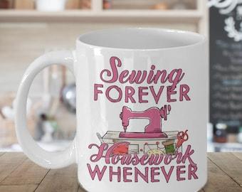 Sewing Mug - Sewing Coffee Mug - Funny Sewing Mug - Sewing Yarn Mug - Sewing Gift Mug - Gift For Sewer - Sewers Mug