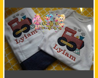 Super cute Embroidery Onsie and burb Cloth