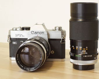 Canon FTb with 135mm 2.5 + 200mm 4.0