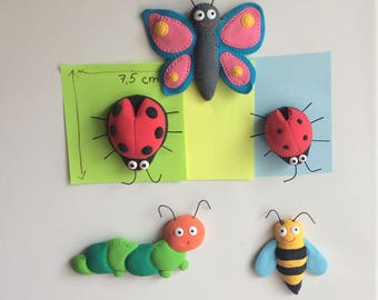 Insects fridge magnets