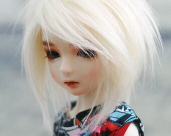 BJD Wig Shaggi Long Cut Milk Brown 9-10 8-9 7-8 6-7 inch Synthetic Fur Wig