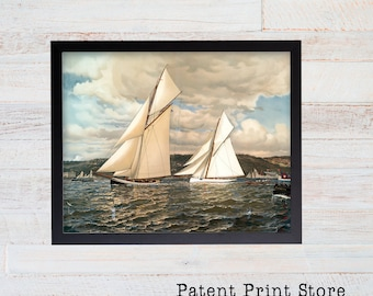 Sailboat Print. Sailboat Art. Sailboat Decor. Nautical Decor. Nautical Wall Decor. Beach House Decor. Beach House Art. Coastal Wall Art. 41
