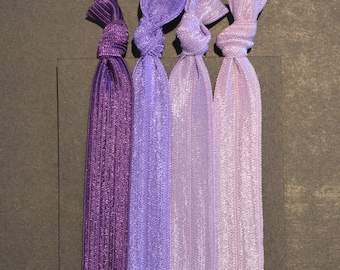 Purple Ombre Soft Hair Ties