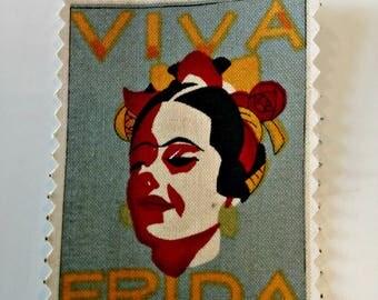 """Patch """"Viva Frida blue"""""""