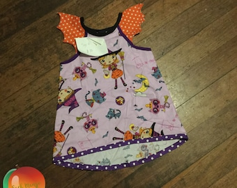 Halloween Bat Tunic ~ Size 6