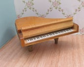 Vintage 1950s Barton Wooden Dolls House Grand Piano