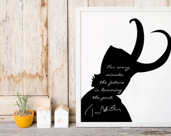 """Tom Hiddleston """"The Future Becoming The Past"""" Art Print"""