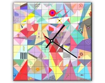 END OF GAME-design plexiglass wall clock retro printed with original designs