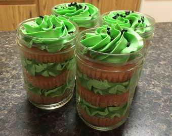 4 Cupcakes in a Jar