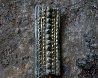 Ancient Viking's Bronze Gilt Belt Mount / circa 10th century AD / Authentic Artifact