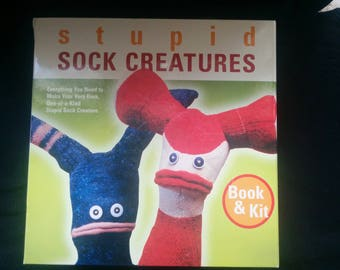 Stupid Sock Creatures Book & Kit Making Quirky Lovable Figures from Cast-off Socks NEW