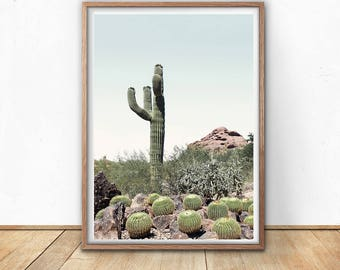 Desert Cactus - Cactus Wall Art, Digital Print, Wild Cactus, Boho Wall Decor, Joshua Tree, Cacti Art, Southwestern Decor, Mexico Art