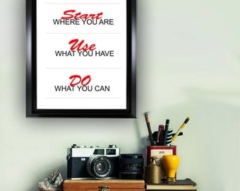 Positive Printable Quote /Wall Art / Printable digital file/