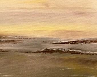 Acrylic painting / darkness / desert
