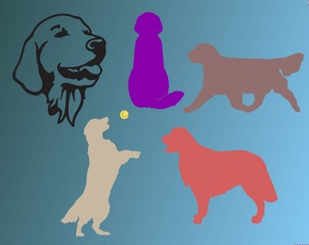 Golden retriever face  dog  SVG Clipart Cut Files Silhouette Cameo Svg for Cricut and Vinyl File cutting Digital cuts file DXF Png Pdf Eps